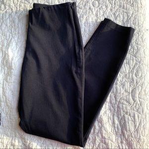 Uniqlo Flat Front Cotton Blend Ankle Pants